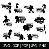 Disney World Group Shirt SVG Files with Toy Story Characters and the phrase You've Got a Friend in Me