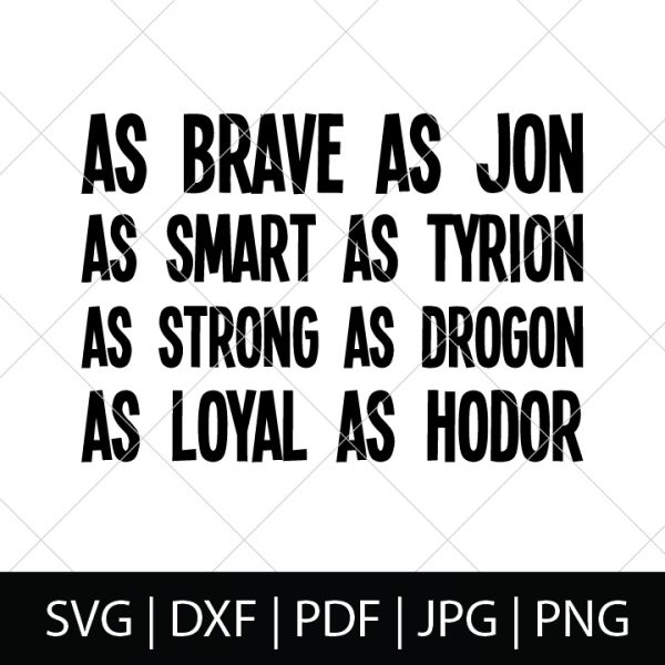 Nerdy Father's Day SVG Files - Game of Thrones Character Description Shirt Design