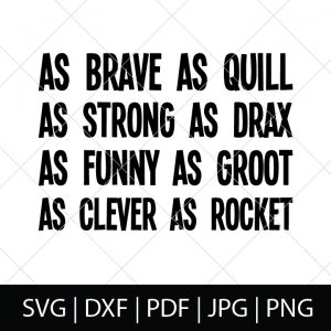 Nerdy Father's Day SVG Files - Guardians of the Galaxy Character Description Shirt Design