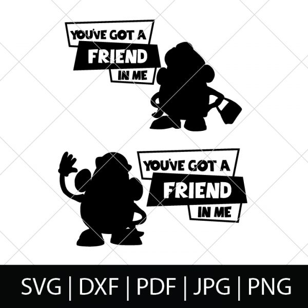 You've Got a Friend in Me SVG Bundle 1 - Mr Potato Head and Mrs Potato Head - Toy Story Cut Files for DIY Disney Group Shirts