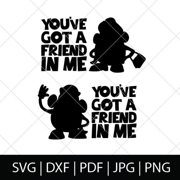 You've Got a Friend in Me SVG Bundle 2 - Mr Potato Head and Mrs Potato Head - Toy Story Cut Files for DIY Disney Group Shirts