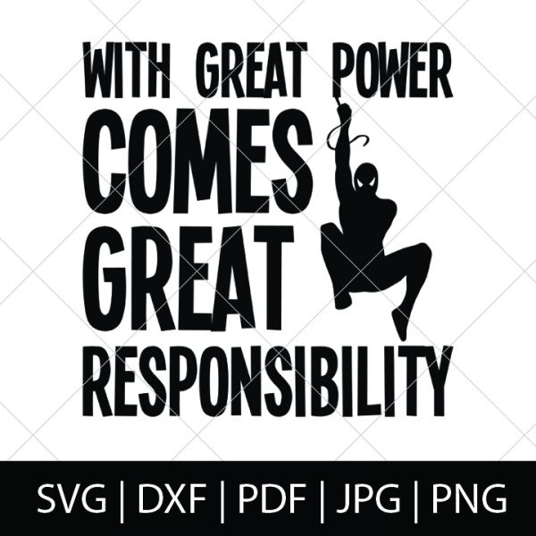 With Great Power Comes Great Responsibility - Spider-Man SVG Bundle