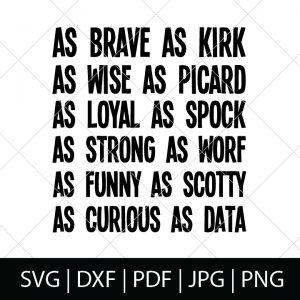 Nerdy Father's Day SVG Files - Star Trek Character Description Shirt Design