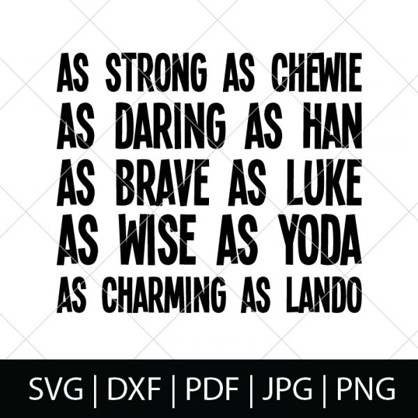 Nerdy Father's Day SVG Files - Star Wars Character Description Shirt Design