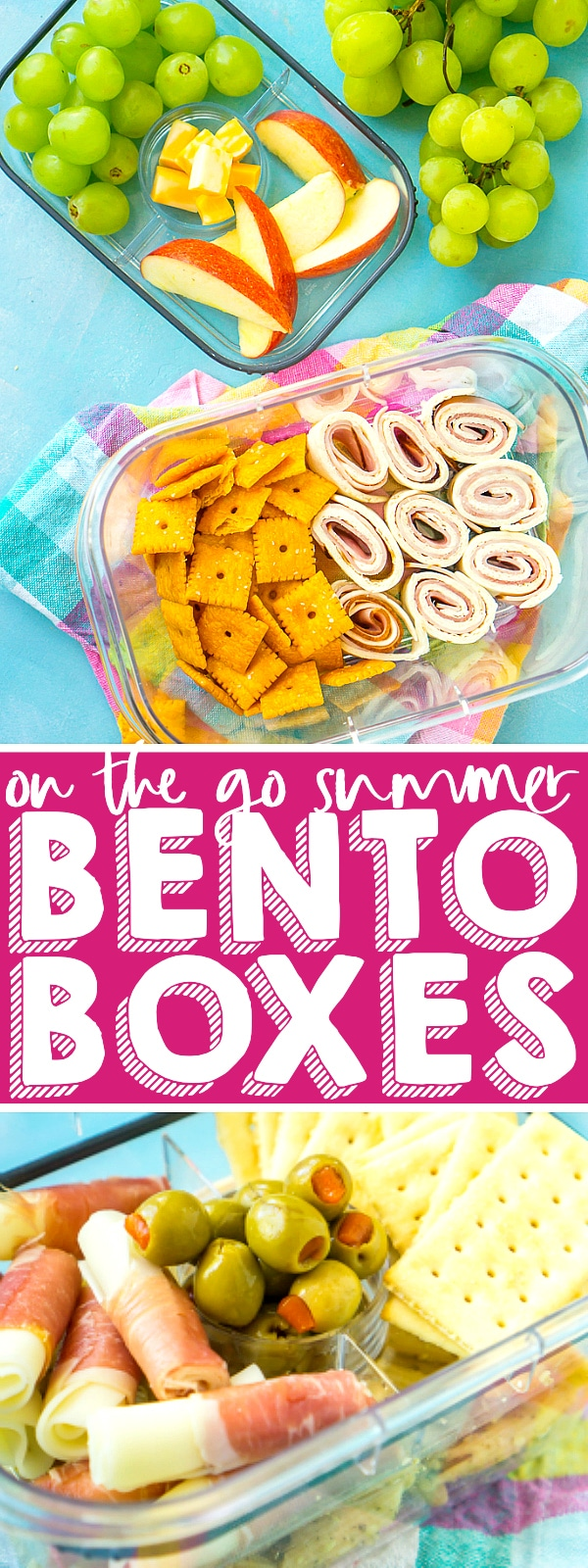 Create easy summer Bento boxes that you can take on the go for quick lunches or snacks! Helps you stay healthy and energized for all the summer fun planned, especially if you are chasing after kids at the park! | THE LOVE NERDS #bentoboxes #kidlunches #kidsnacks #packedlunch