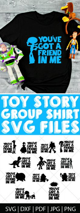 With the excitement of Toy Story Land and Toy Story 4, I thought it was time to make a Toy Story SVG Bundle! Come check out our Toy Story cut files for Cricut and Silhouette - perfect for making diy shirts for the movie theatre or Disney World as well as travel mugs, computer stickers and more!| THE LOVE NERDS #disneyshirt #disneyside #toystoryproject #disneygroupshirts