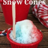 Patriotic Snow Cones {easy & fun recipe}