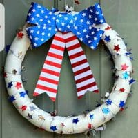 Pool Noodle Patriotic Wreath