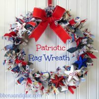 DIY Patriotic Rag Wreath