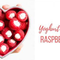 Yoghurt Filled Raspberries