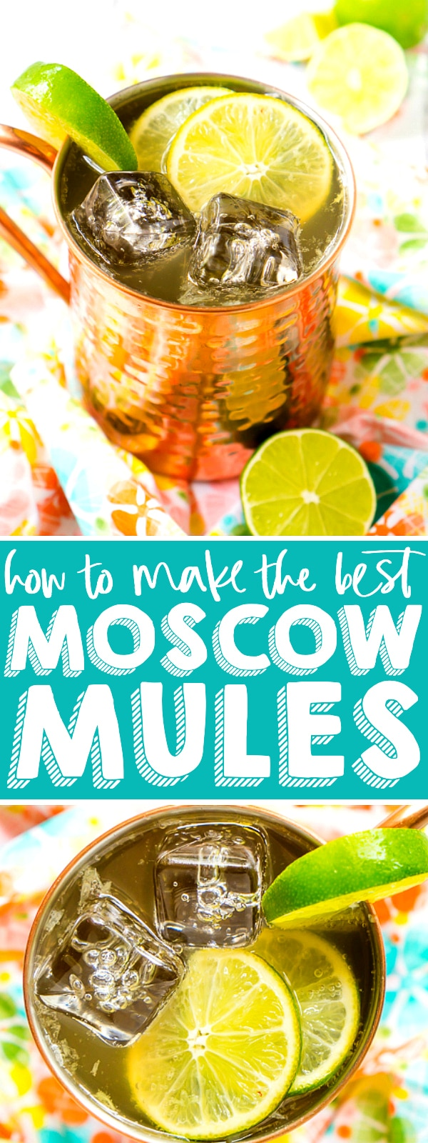 Learn how to make a Moscow Mule with only three ingredients for the perfect summer cocktail that is sweet, tangy, and just a little bit spicy! I'm sharing tips and tricks plus tasty and unique Moscow Mule recipes! | THE LOVE NERDS #cocktailrecipe #summerdrinks #moscowmulerecipe