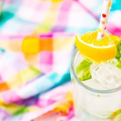 Simple Basil Lemonade Cocktail