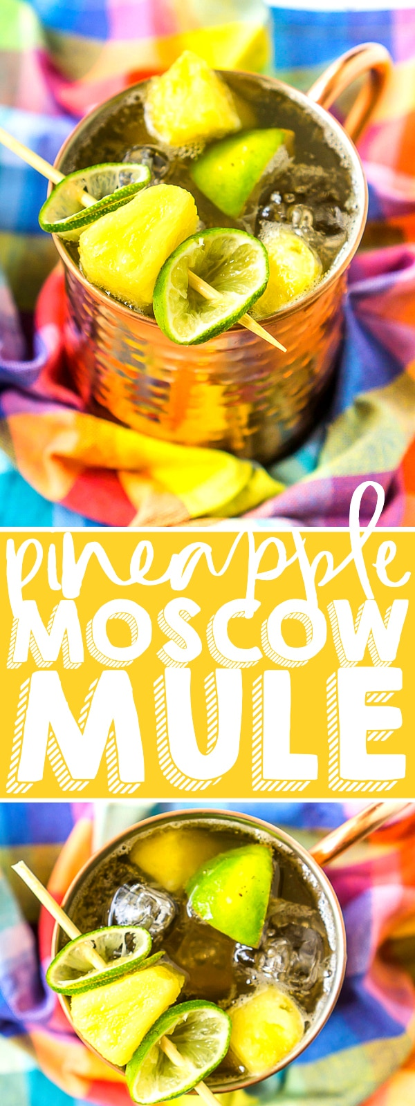 Go tropical with this Pineapple Moscow Mule Recipe for a refreshing take on the classic for a a delicious citrus Moscow mule recipe. Enjoy this perfect summer cocktail with pineapple juice, freshly squeezed limes, and spicy ginger beer poolside this weekend! | THE LOVE NERDS #cocktailrecipe #summerdrinks #pineapplecocktail