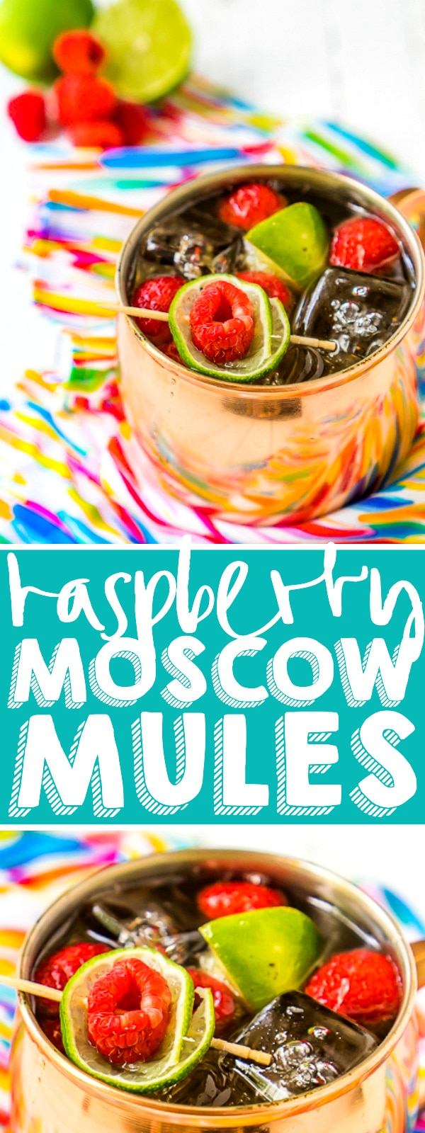 These Raspberry Moscow Mules are my favorite Moscow mule recipe! You are only three ingredients away from the perfect summer cocktail that is both sweet and a little bit spicy! Raspberry and limes makes for a refreshing cocktail!  | THE LOVE NERDS #cocktailrecipe #summerdrinks #moscowmulerecipe #raspberrycocktail