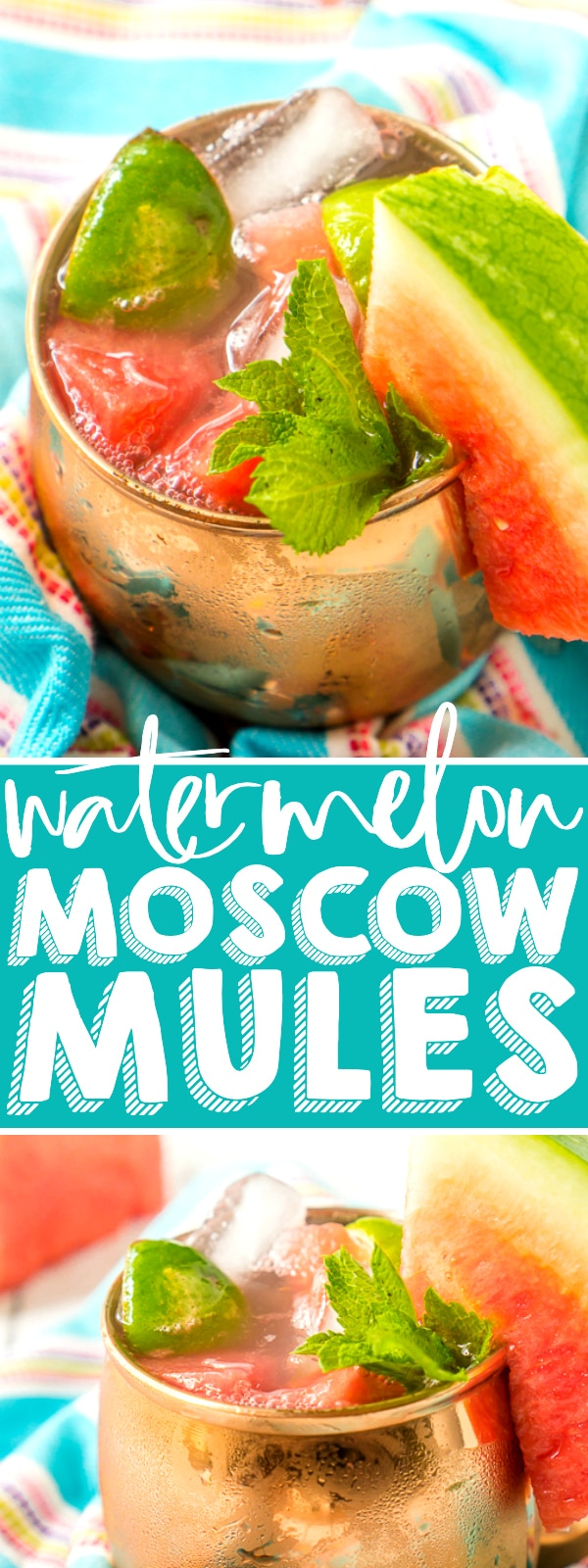 Summers are meant for watermelon cocktails! This fresh Mint Watermelon Moscow Mule recipe will be your new go-to summer drink with the perfect combination of sweet fruit, fresh lime juice, spicy ginger beer and a touch of mint!  | THE LOVE NERDS #cocktailrecipe #summercocktail #mintcocktail