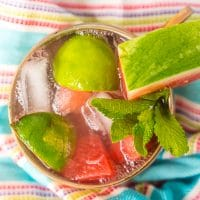 Sweet Mint Watermelon Moscow Mules