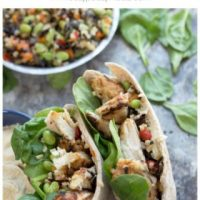 10 Minute Grilled Chicken Protein Pitas