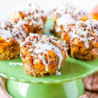 Apple Pie Cinnamon Roll Muffins