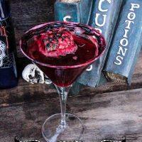 Halloween Cocktail: Blood & Brains Cranberry Martini