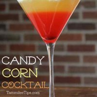 Candy Corn Cocktail perfect for Halloween Parties