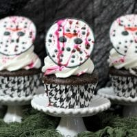 Friday the 13th Jason Mask Cupcakes