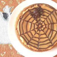 Pressure Cooker Halloween Spider Web Cheesecake