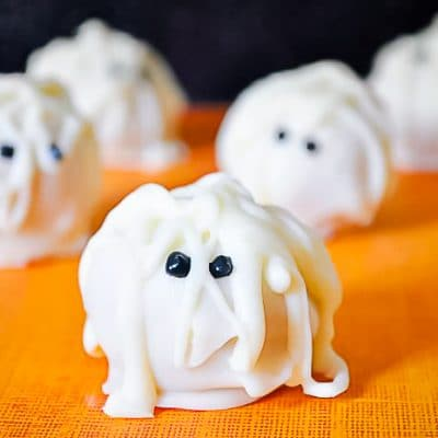 The Curse of the Pumpkin Mummy Truffles